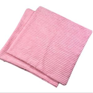 NEW! Pink Chenille Pillow Covers Set